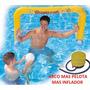Arco Water Polo Inflable Grande Mas Pelota Mas Inflador