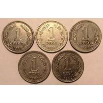 Moneda - 1 Peso - Argentina - Años 1957/1958/1959/1960 Lote