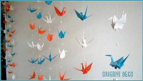 Decoracion Origami Matrimonio ~ Colgante Grullas Origami Decorar Fiestas,souvenir,vidrieras