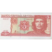 2 Billetes De Cuba Del Che Guevara Año 2004 Sin Circular