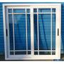 Ventana Aluminio Blanco Vidrio Repartido Rotonda 640 100x110
