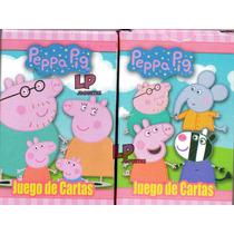 20 Naipes Cartas Infantiles Peppa Pig Minions Souvenir
