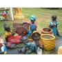 Negritos De Jardin- Figuras De Resina - Decojardín Luján