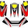Calcos De Karting Para Chasis Con Pontones Para Tierra