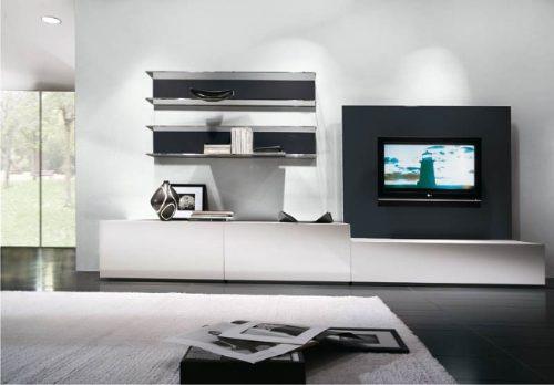 Mueble Living Modular Led Minimalista Smart Progetto Mobili