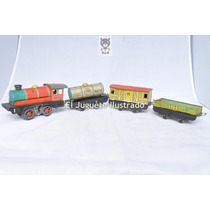 Tren Matarazzo Ypf 4 Piezas Lata Juguete Antiguo Vintage