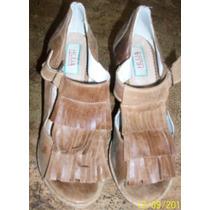 Zapatos Marrones Con Corcho. Numero 40 (marca Huija)