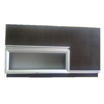 Alacena Con Pistones Y Puerta De Vidrio- Aluminio, 3 Puertas
