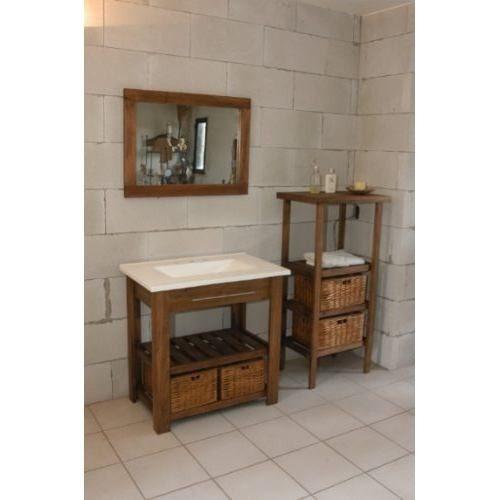 Vanitory de 82 cm de madera maciza con 2 decks 890 xwlas for Vanitory ferrum precios
