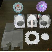 Caja Transparente Pvc (tipo Acetato) P/minicupcakes Indv 25u