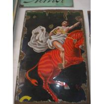 Antiguo Cartel Enlozado Cinzano