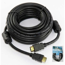 Cable Hdmi 15 Mts V1.3 Cat.2 Oro 24k Lujoso Con Doble Filtro