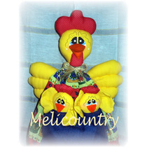 Muñecos Country Gallina Guarda,bolsas ,pan, Repasadores