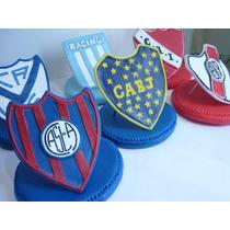 Escudo Futbol Adorno De Torta Porcelana Fria