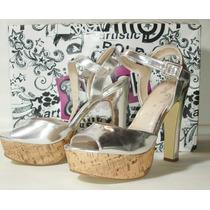 Zapatos Plateados Brash Modelo Jupiter Talle 9 1/2