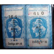 Etiquetas Cigarrillos Impuestos Internos - X 250 Unidades