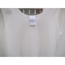 Vestido Blanco Tul O Gasa Labrada T 46 Transparenc* M Pago