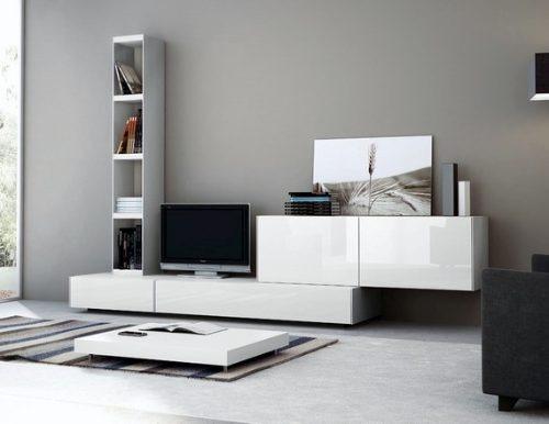 Mueble living modular lcd moderno tv comedor progetto for Progetta mobili
