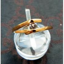 Anillo Oro 14 Gold Filled Con Circonita Transparente
