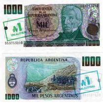 1.000 Pesos Argentinos Sobrecargado 1 Austral Bottero 2701