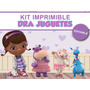 Kit Imprimible Editable Doctora Juguetes, Golosinas Stickers