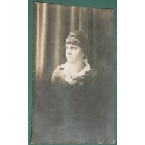 Fotografia Postal Damas Mujeres Señorita Peinado Flequillos