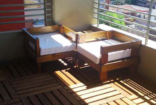 Sillones ideal balcon exterior madera muebles jardin - Sillones para jardin exterior ...
