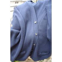 Chalecos(2) Hombre M/ Tejidos Usados Azul Liso /escoses .