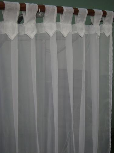 Cortinas listas para colgar p barral o riel tela voile juego voile a ars 120 en preciolandia Para colgar cortinas