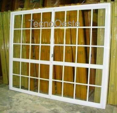 Puerta ventana balcon corrediza aluminio blanco 240x200 for Ventanas de aluminio precios argentina