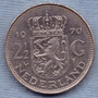 Holanda 2 1/2 Gulden 1970 * Juliana * Enorme *