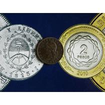 Extraordinario Patacon Cobre 2 Centavos 1884