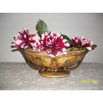 Liquido Espectacular Jardinera Ceramica Con Flores Pintadas