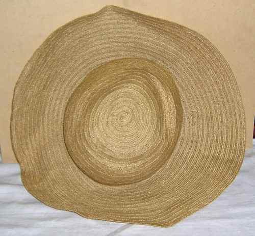 2859754f42faf Antiguo Sombrero Capelina Tipo Panamá De Mujer Color Beige
