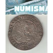 Italia Mantua Escasa Moneda De 60 Soldi Año 1666 Km 369