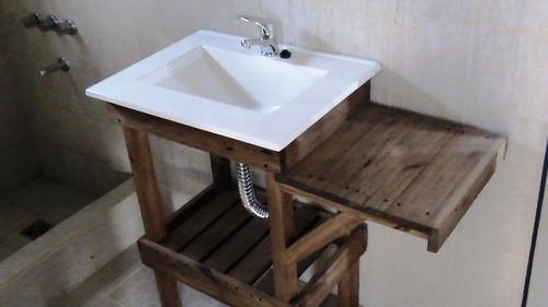 Vanitorys Bajo Mesadas Estilo Campo Rustico Muebles De