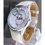 Bello Reloj Con Kitty Forma Corazón Con Cristales Y Carita C