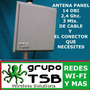 Antena Panel Wireless 14 Dbi , 2,4 Ghz Exterior  Hasta 5 Km.