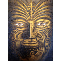 Maori Escultura Mural En Relieve