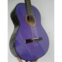 Guitarra Clasica Criolla Violeta ,afina Ok.con Sop Correa