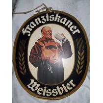 Antiguo Cartel No Enlozado De Cerveza Weissbier En Carton
