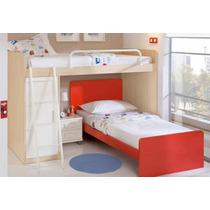 Dormitorio Niño, Dos Camas, Cajonera Y Mesita Rodante