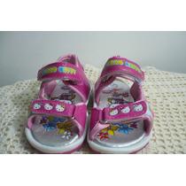 Sandalias Con Luces De Hello Kitty, Color Fuxia, Rosa
