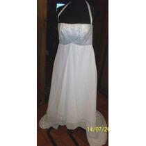 Vestido Blanco De Novia. Talle 2 - Medium.