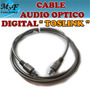 Cable De Audio Digital Toslink Fibra Optica 1,2mts. Oferta