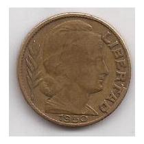 Exceso De Material Moneda 20 Centavos Año 1950 !!!