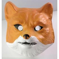 Careta Plástica Zorro - Mascara Animal Accesorio Disfraz