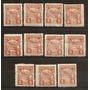 Uruguay Año 1947 Tpcp Encomiendas Lote De 11 Sellos Mint