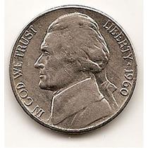 Moneda Estados Unidos De 5 Centavos.five Cents Año1960 D