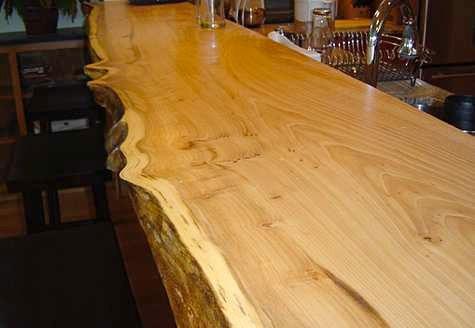 Mesada tabla barra desayunador pasaplato madera dura for Maderas para barras desayunadoras